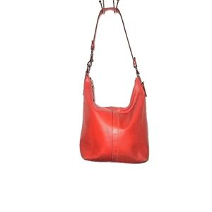 Coach Burnt Orange Mini Hobo Purse 9365
